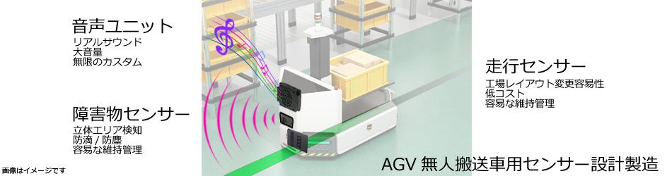 AGV無人搬送車用センサー